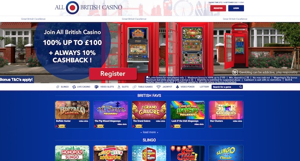All British Casino Review 2020 Screenshot
