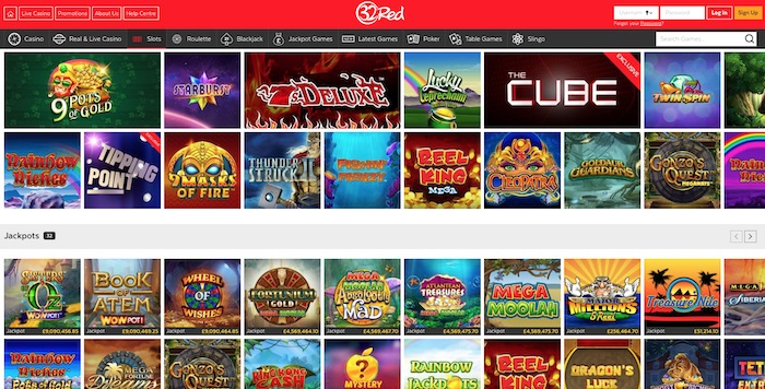 32 Red Casino UK Website
