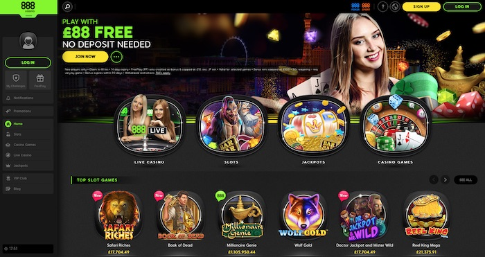 888 Instant Play Casino No Download Needed