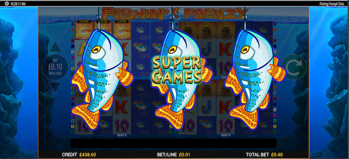Play Fishin' Frenzy Power 4 Slots at Grosvenor Casino