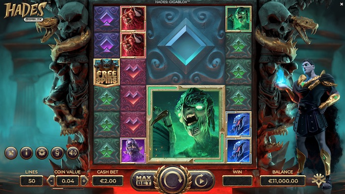 Hades Gigablox is one of the best 888 casino slots to play in December