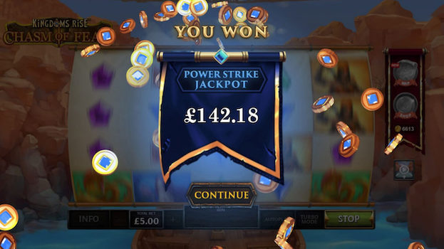 Kingdoms Rise Chasm of Fear Slot from Playtech