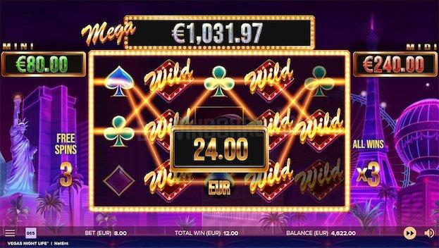 NetEnt Vegas Nightlife Slot Game