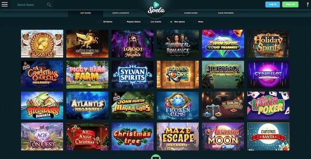 Spela Casino UK 2021 Screenshot