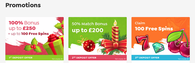 Spin and Win December Offers
