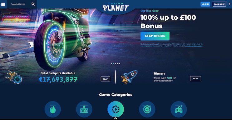 Casino Planet UK Review and Bonus