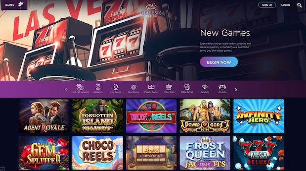 Genesis Casino UK 2021 Review Screenshot
