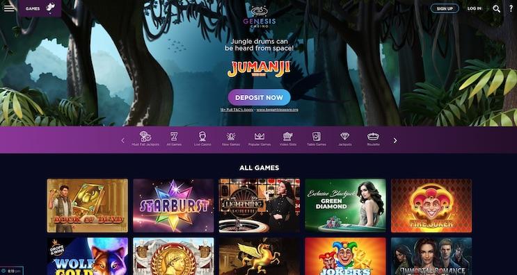 Genesis Casino UK Review and Bonus