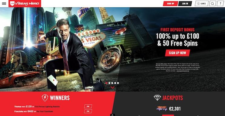Vegas Hero UK Casino Review and Bonus