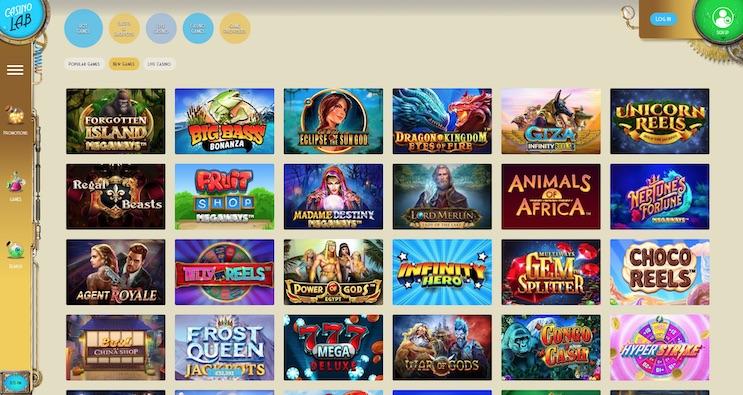 Casino Lab Bonus and Review 2021