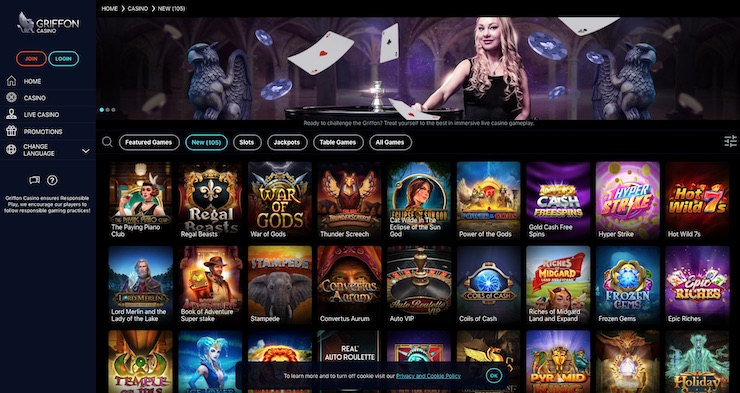 Griffon Casino 2021 Review and Bonus for UK Players