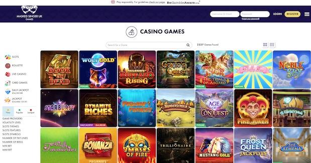 Masked Singer Games UK Review Screenshot