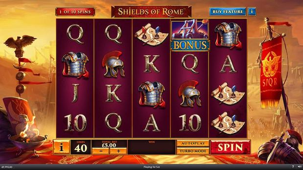 Playtech Shields of Rome Slot Game