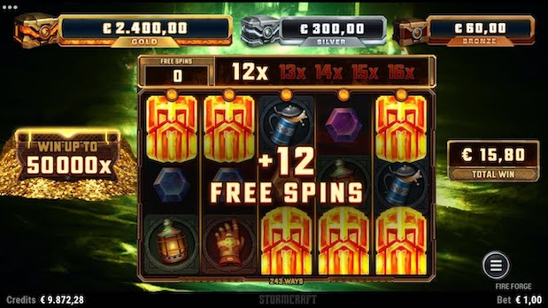 Some of the best slots on 32 Red include Fire Forge