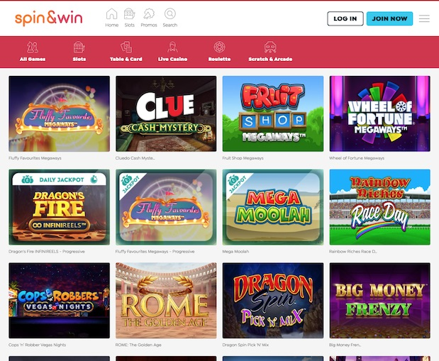 Spin and Win offers 13 Rainbow Riches Slots