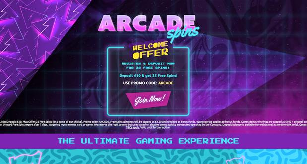 UK Slot site Arcade Spins