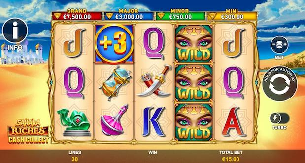 Sahara Riches Cash Collect is one of the best Betfred Slots