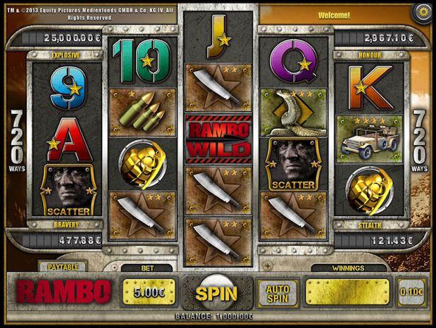 iSoftBet Rambo Slot at 888 Games