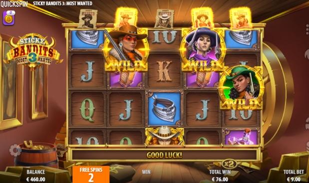 Sticky Bandits 3 online slot