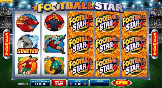 Microgaming Football Star Slot Game