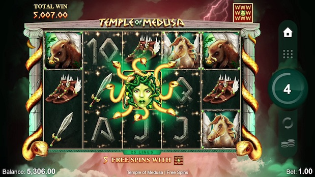 New slot games at bgo in 2021 include Temple of Medusa