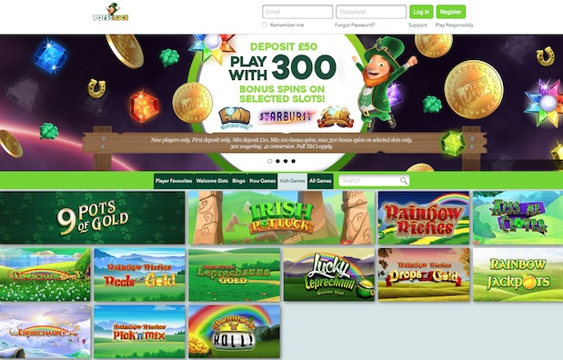 Play Rainbow Riches Free at Pots of Luck