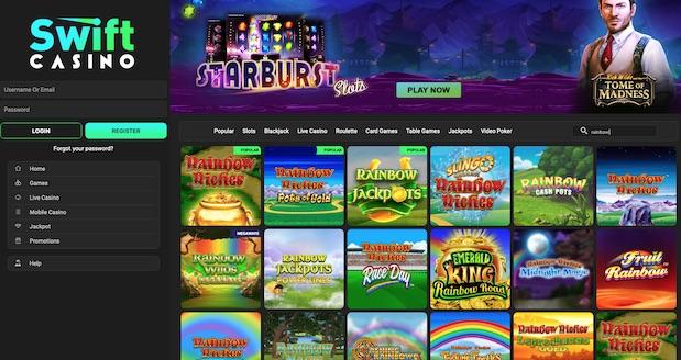 Swift Casino Rainbow Riches Slots