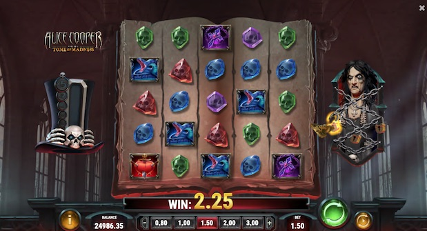 Alice Cooper and the Tome of Madness Slot